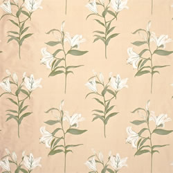 White Lilies Fabric