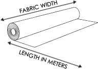 fabric sold by the meter