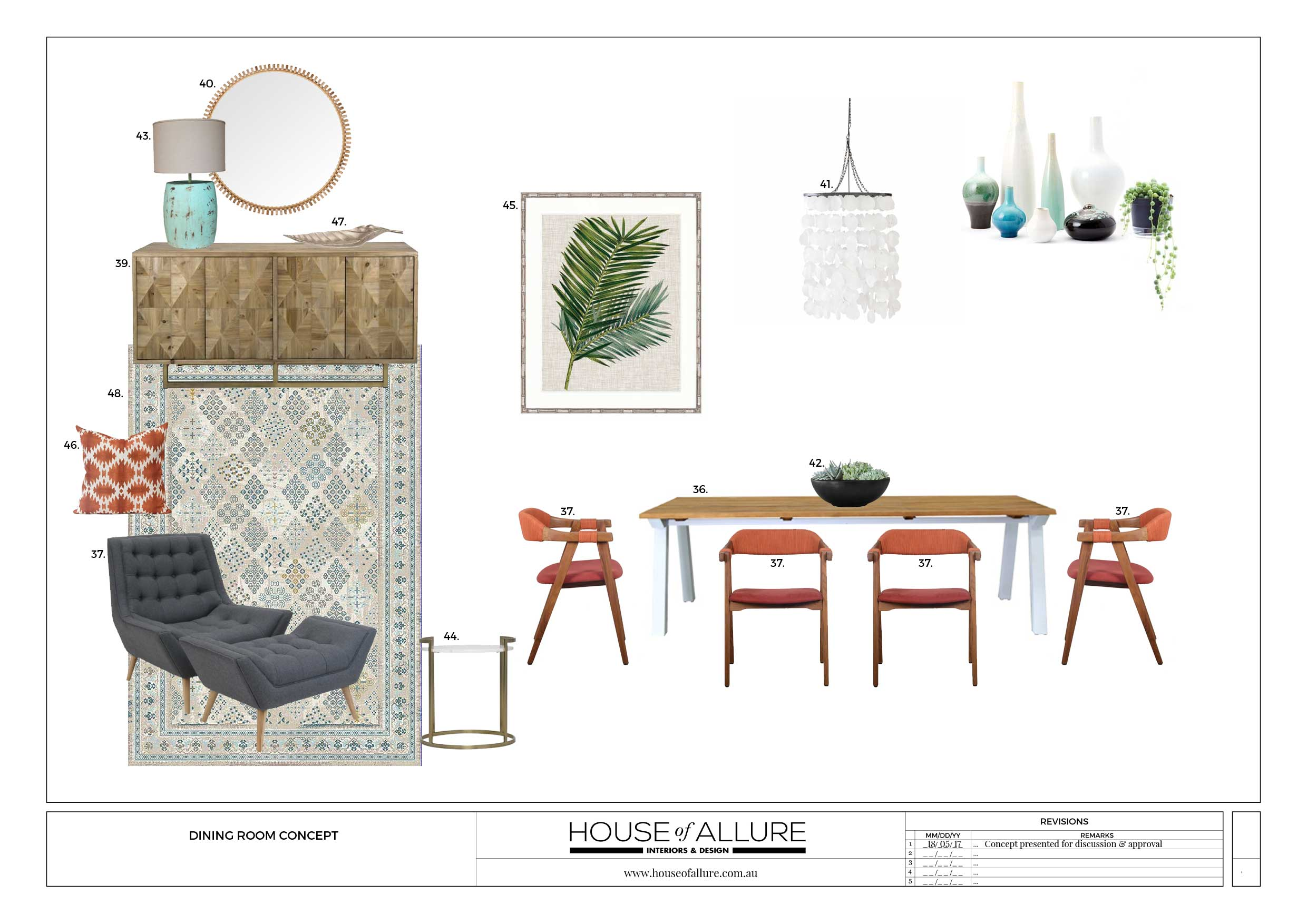 e-decorating for dining room