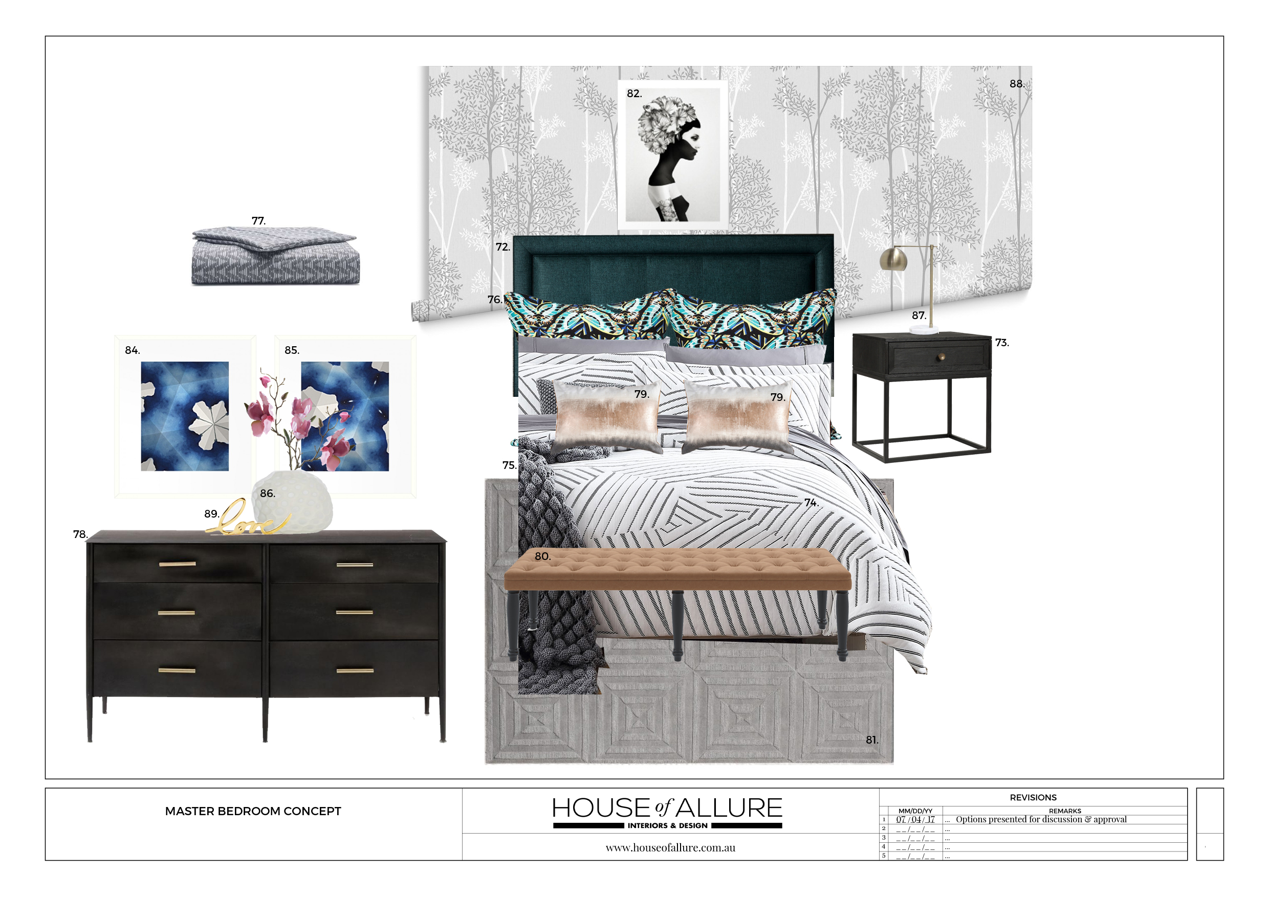 e-decorating for master bedroom